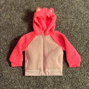 Fuzzy Pink Cat & Jack 12 mo. Girls Hoodie